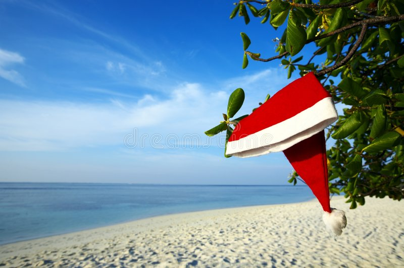 kapeluszowi plażowi boże narodzenia obrazy royalty free