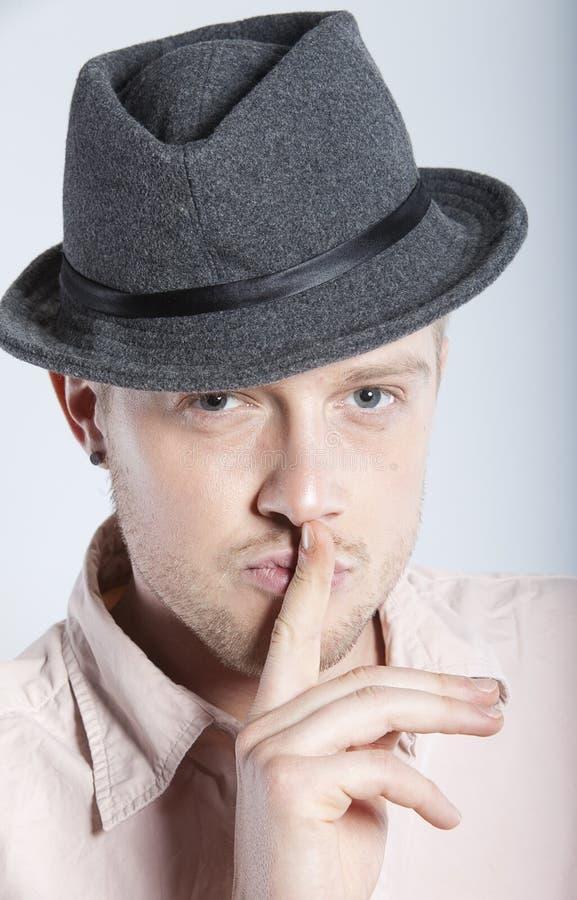 kapeluszowy mężczyzna obraz royalty free