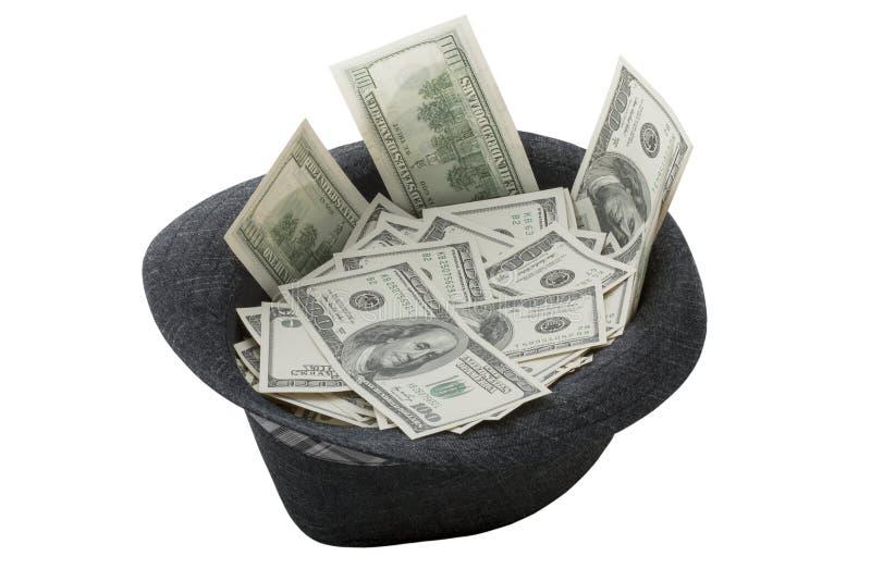 Kapeluszowy pełny pieniądze zdjęcie royalty free
