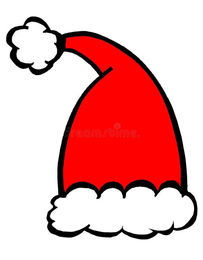 kapeluszowy Santa royalty ilustracja