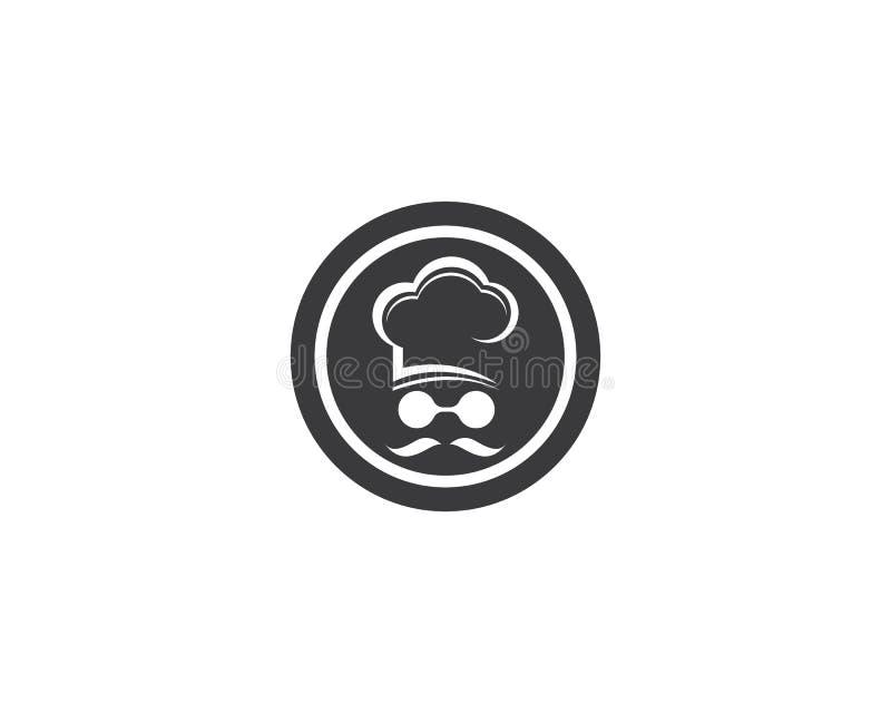 kapeluszowy szefa kuchni loga szablon ilustracja wektor