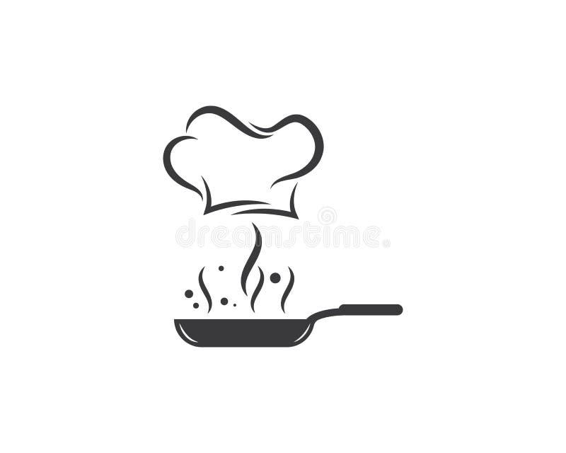 kapeluszowy szefa kuchni loga szablonu wektor ilustracja wektor