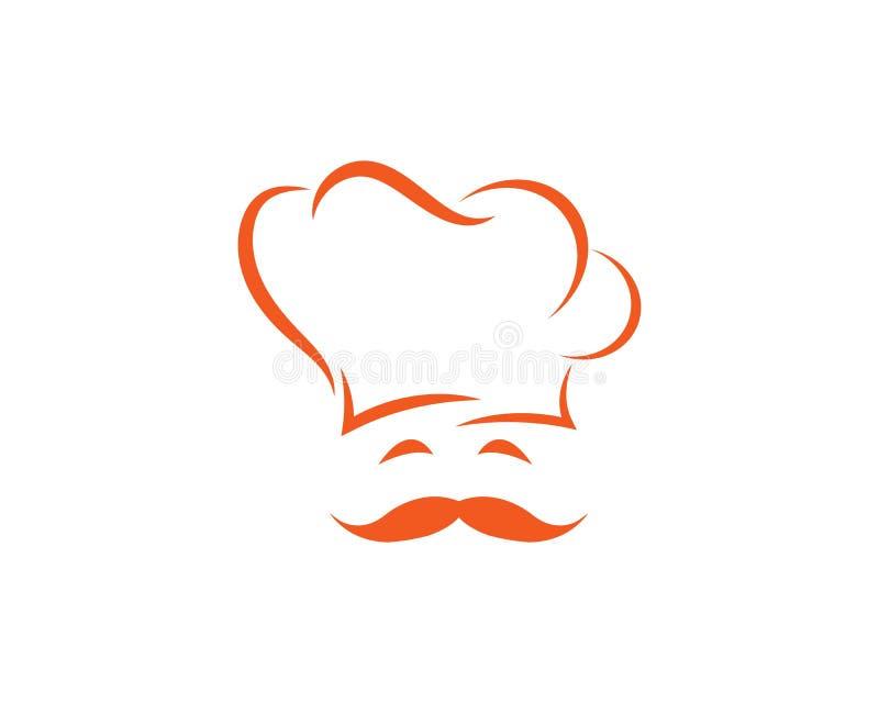 kapeluszowy szefa kuchni logo szablonu vecto ilustracja wektor