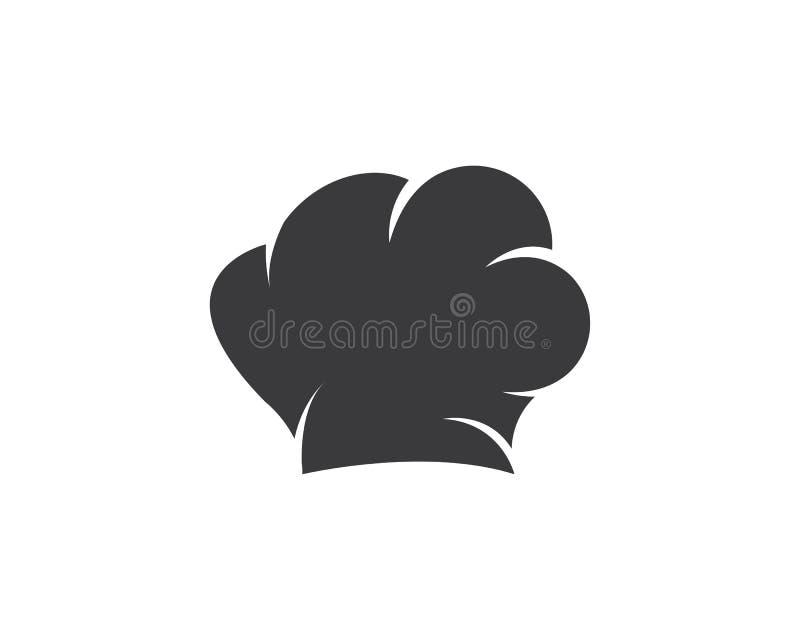 kapeluszowy szefa kuchni logo szablonu vecto ilustracji
