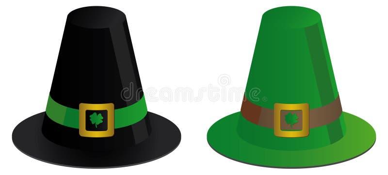 kapeluszu irlandczyk dwa royalty ilustracja