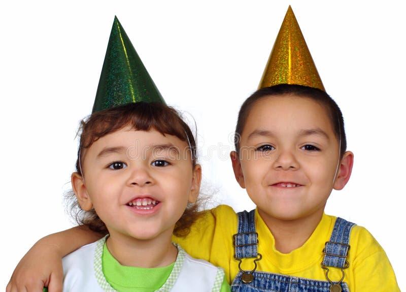 kapeluszy dzieciaków przyjęcie zdjęcie stock