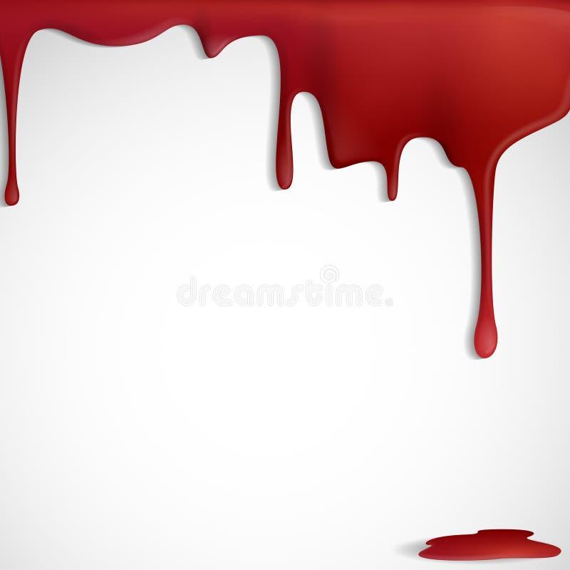 Kapiąca Czerwona krew. royalty ilustracja