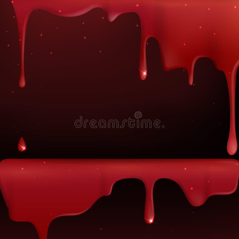 Kapiąca Czerwona krew. ilustracja wektor