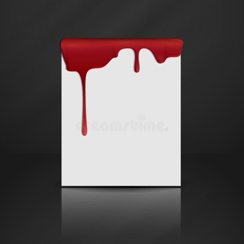 Kapiąca Czerwona krew. ilustracji