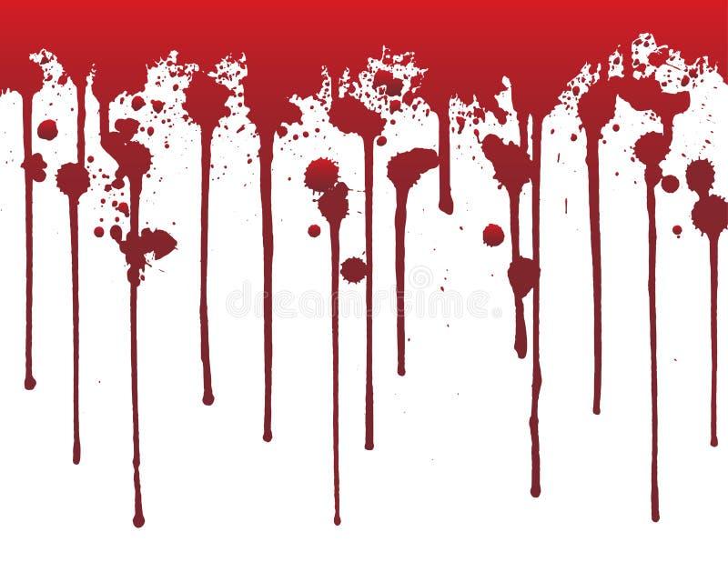 Kapiąca krew lub czerwona farba odizolowywający na białym tle pojęcie kalendarzowej daty Halloween gospodarstwa ponury miniatury  ilustracji