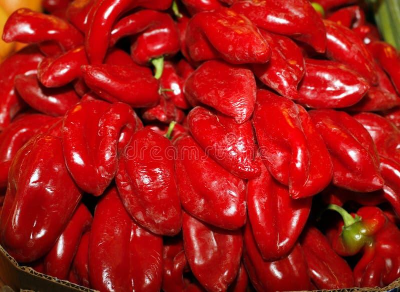 Kapia Μικρά κόκκινα πιπέρια στην αγορά αγροτών ως υπόβαθρο στοκ φωτογραφία με δικαίωμα ελεύθερης χρήσης