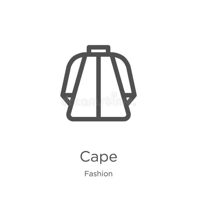 Kapikonenvektor von der Modekollektion Dünne Linie Kapentwurfsikonen-Vektorillustration Entwurf, dünne Linie Kapikone für stock abbildung