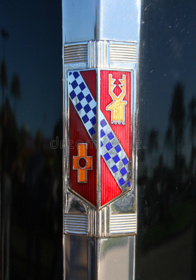 Kapiszon odznaki klasyk Buick obrazy royalty free