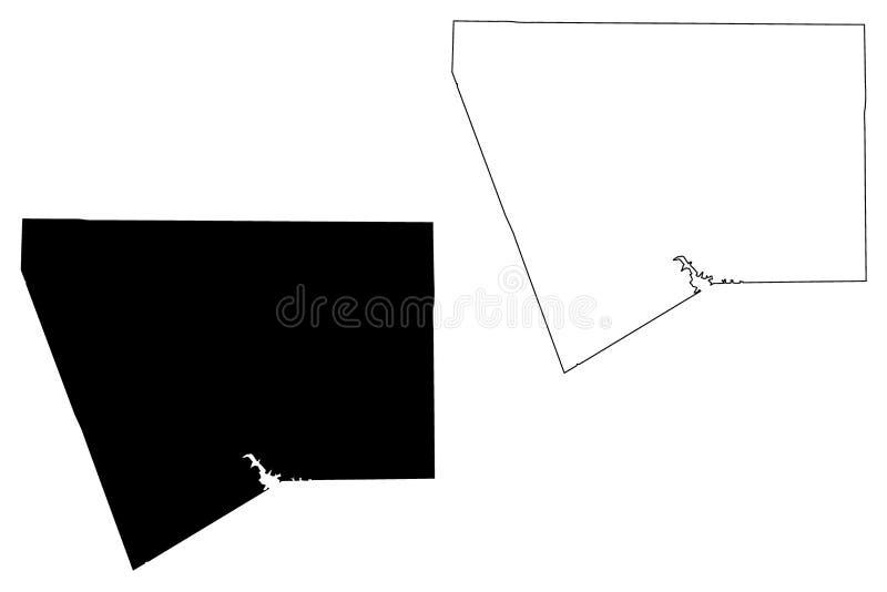 Kapiszonu okręg administracyjny, Teksas okręgi administracyjni w Teksas, Stany Zjednoczone Ameryka, usa, U S , USA mapy wektorowa royalty ilustracja