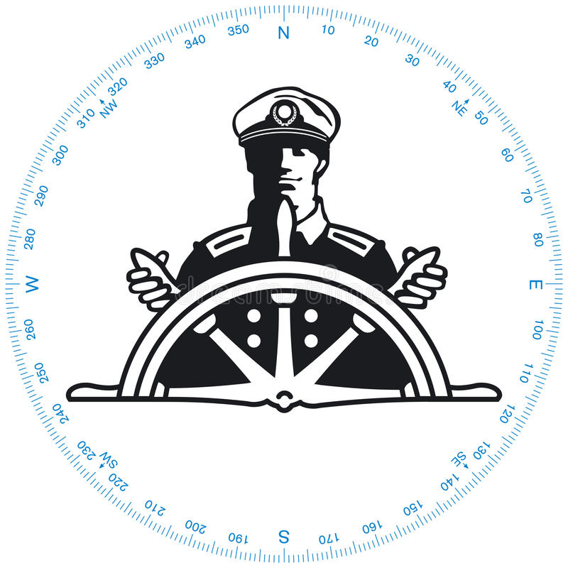Kapitän lizenzfreie abbildung
