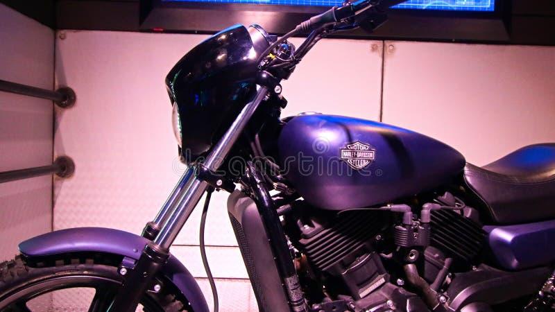 Kapitän America spielte durch Schauspieler Chris Evans-Motorrad stockbild