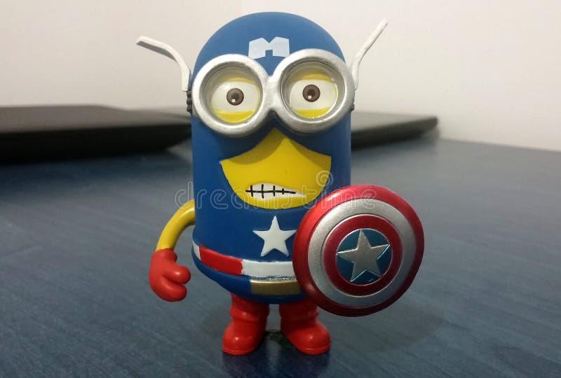 Kapitän Amerika Minion stockfotos