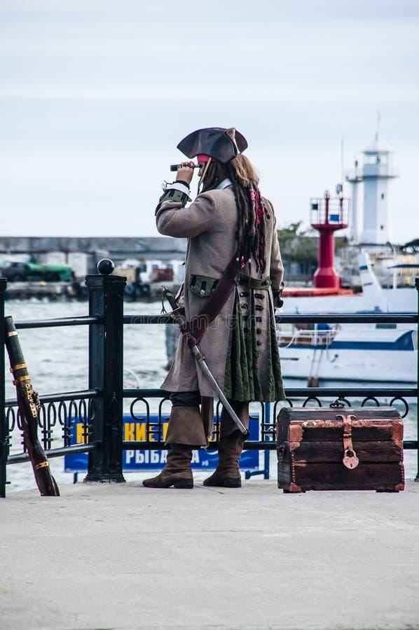 Kapitän eines Piratenschiffs stockfotografie