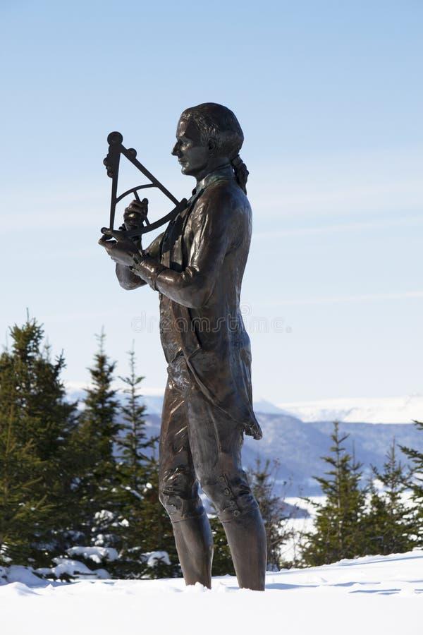 Kapitän James Cook, Eckbach Neufundland stockbild