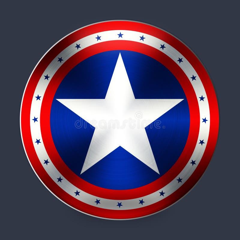 Kapitän von Amerika stock abbildung