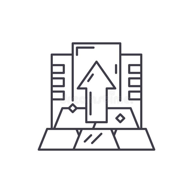 Kapitał ikony kreskowy pojęcie Kapitałowa wektorowa liniowa ilustracja, symbol, znak ilustracja wektor