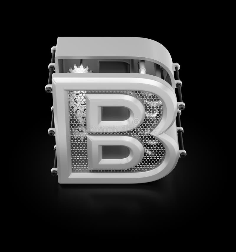 Kapitałowy b abecadło ilustracja wektor