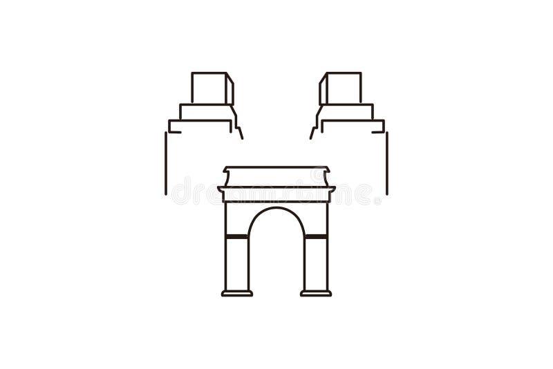 kapitałowy budynku logo ilustracji