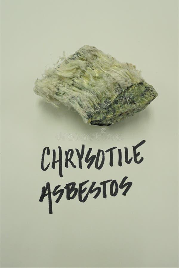 Kapitałowych listów etykietki włókienna azbestowa próbka obrazy stock