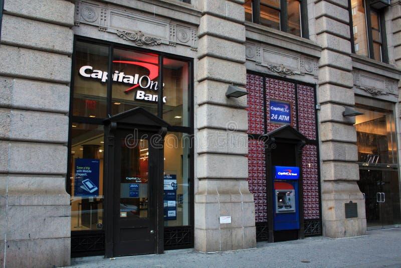 Kapitału Jeden bank Miasto Nowy Jork zdjęcia royalty free