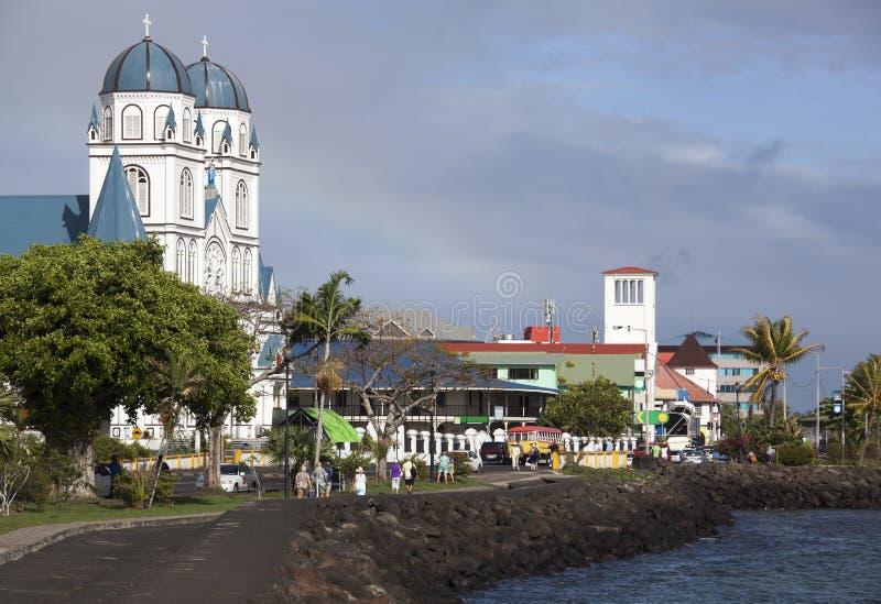 Kapitaal van Samoa stock afbeelding
