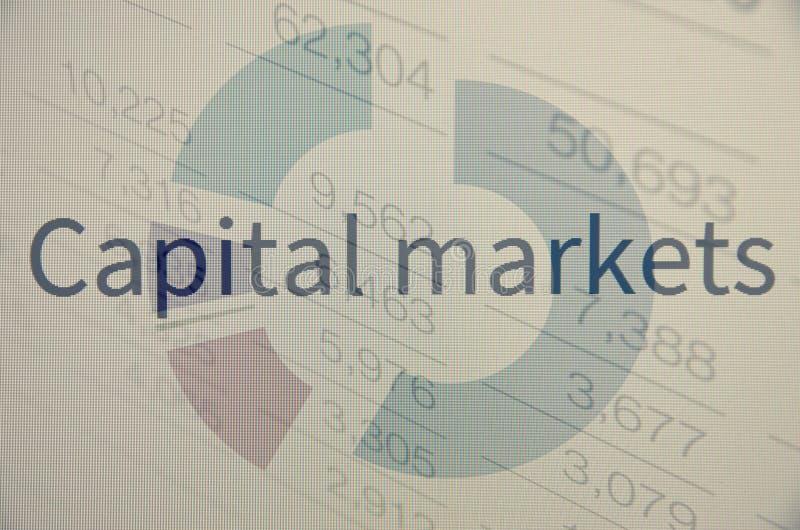 Kapitaalmarkten stock afbeeldingen
