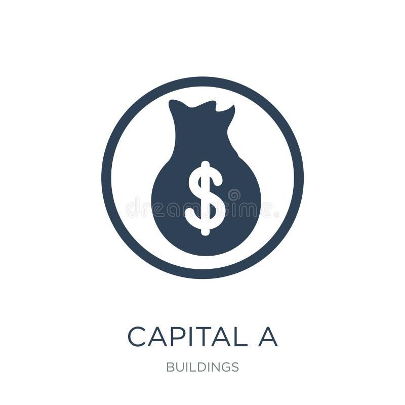 Kapital eine Ikone in der modischen Entwurfsart ernstlich eine Ikone lokalisiert auf weißem Hintergrund Kapital einfache und mode lizenzfreie abbildung