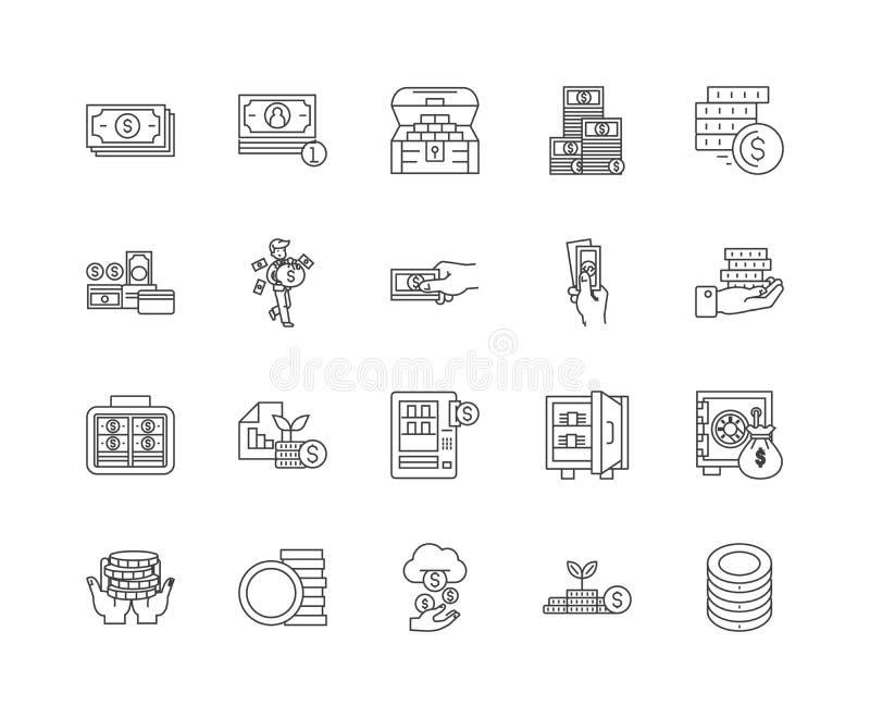 Kapitalien zeichnen Ikonen, Zeichen, Vektorsatz, Entwurfsillustrationskonzept stock abbildung