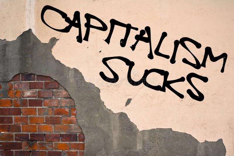 Kapitalism suger arkivfoto