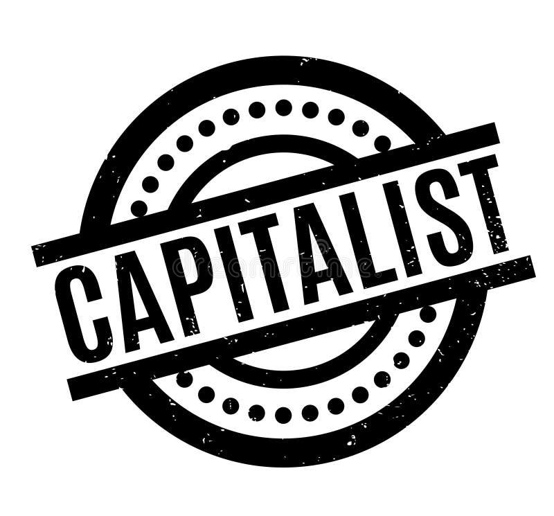 Kapitalistisk rubber stämpel royaltyfri illustrationer
