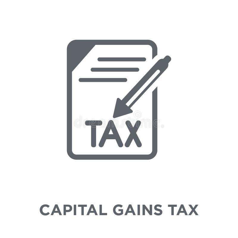 Kapitalvinstskattsymbol från kapitalvinstskattsamling stock illustrationer