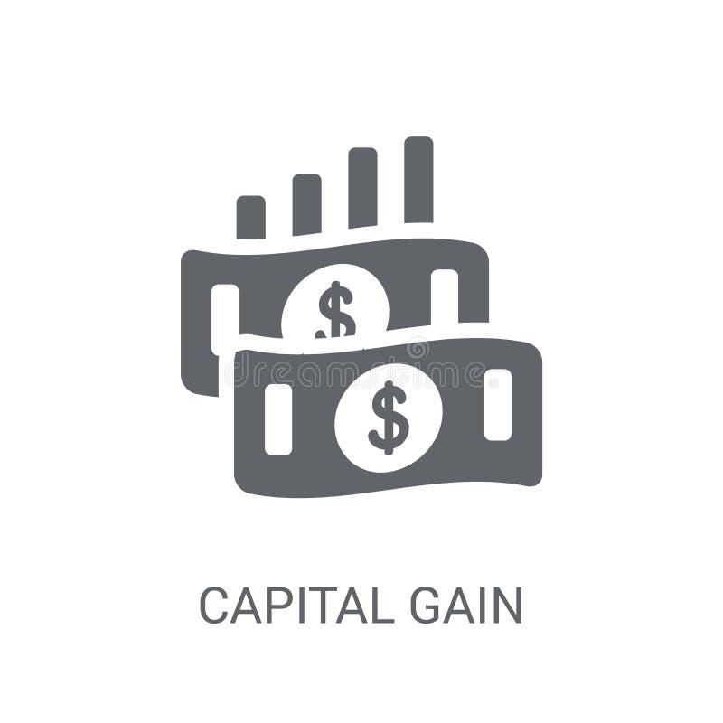Kapitalvinstsymbol  stock illustrationer