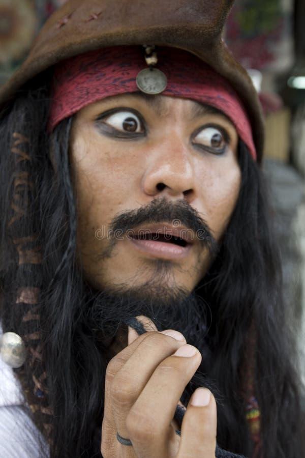 kapitan jack karaibska pirackie wróbla obraz stock