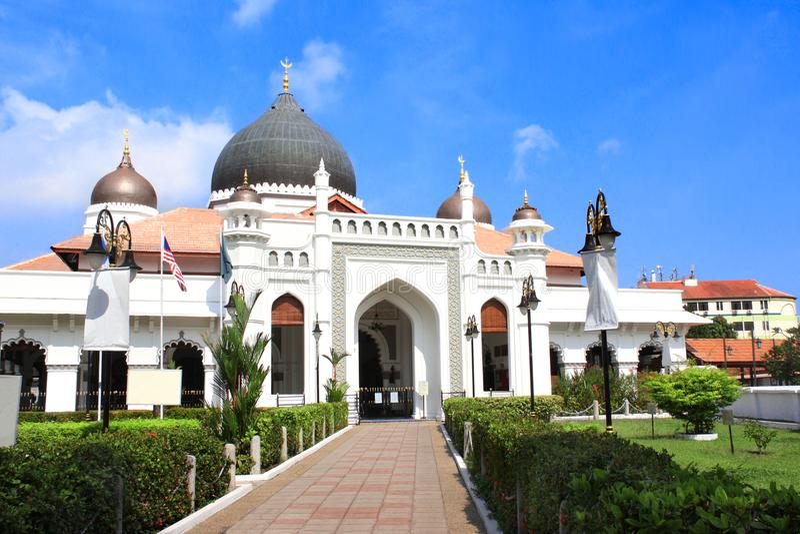 Kapitan Keling moské, Georgetown, Penang ö, Malaysia arkivfoto