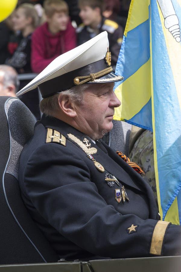 Kapitan pierwszy kategoria Uczestnik parada przestarzały f obrazy royalty free