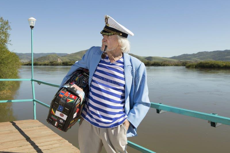 Kapitan w turystycznej podróży zdjęcie stock