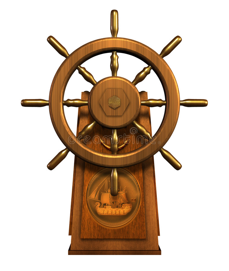 kapitan wycinek zawiera s koło drogi ilustracja wektor