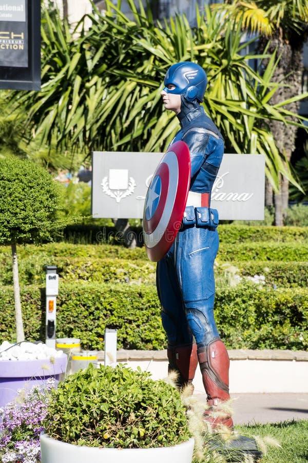 Kapitanu Ameryka model zdjęcie stock