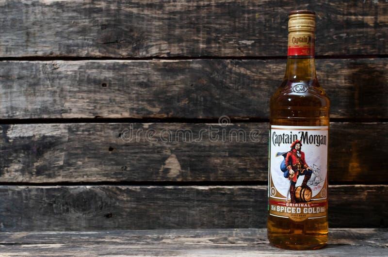 Kapitanu Morgan spiced złocisty oryginał zdjęcia royalty free