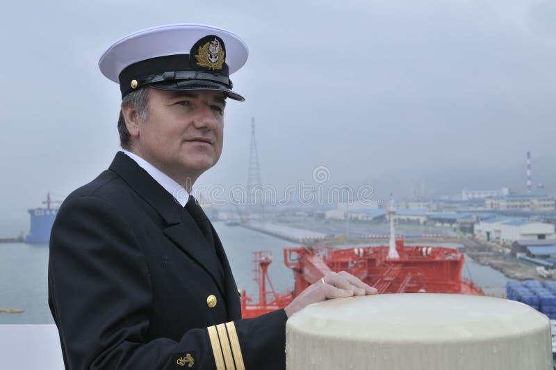 kapitanu oceanu statek zdjęcia royalty free