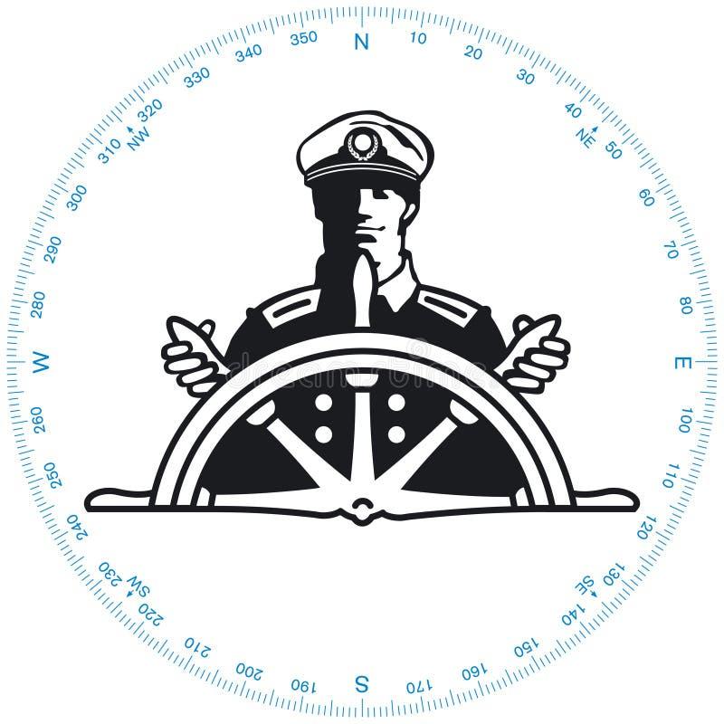 Kapitein royalty-vrije illustratie