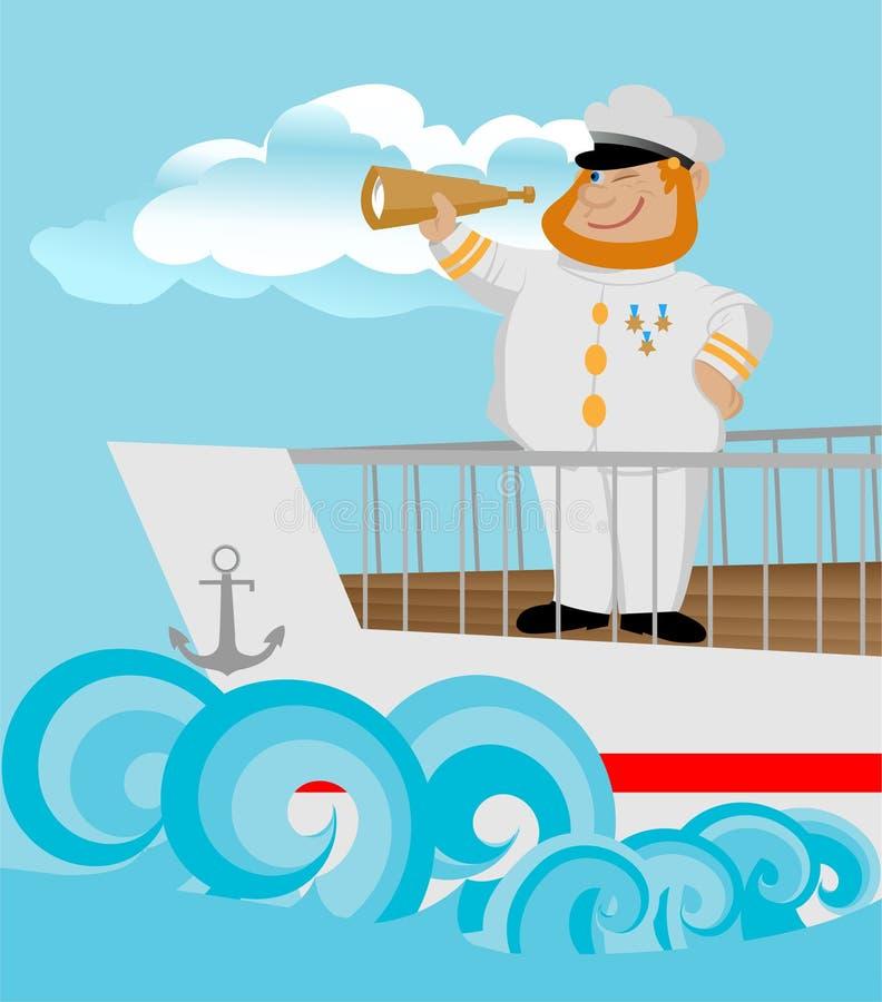 Kapitein stock illustratie