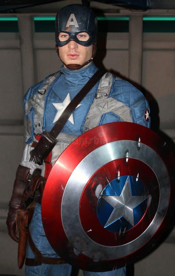 Kapitein America bij Mevrouw Tussaud's royalty-vrije stock foto