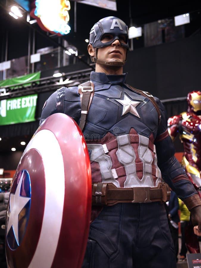 Kapitein America in Toy Soul 2015 stock afbeeldingen