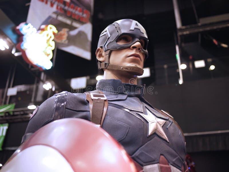 Kapitein America in Toy Soul 2015 stock foto